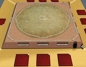Sumo ring dojo sport architectural 3D model