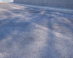Concrete road texture 3D model