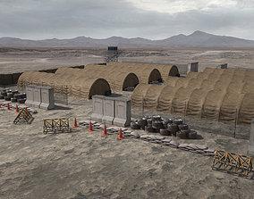 3D model Military Camp Elements