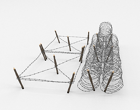 personnel Barb Wire Obstacle 3D