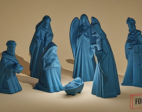 elegant nativity Scene 3D printable