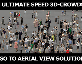 low-poly 3D PEOPLE CROWDS- ULTIMATE SPEED SOLUTION