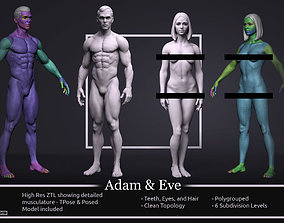 Basemesh Set - Adam and Eve 3D model