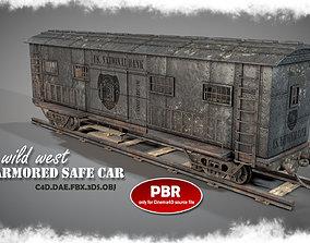 3D model Wild West Armored Safe Car