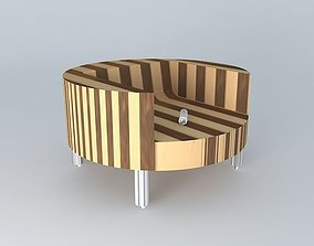 3D model Frederic tabary chair in glulam