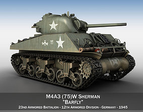 M4A3 75mm - Sherman - Barfly 3D model vehicle