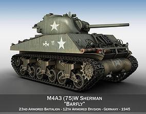 M4A3 75mm - Sherman - Barfly 3D model vehicle