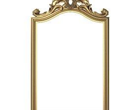 gilt Carved Picture Frame 3D model