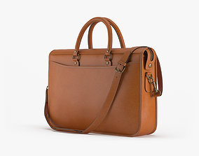 3D model Marston Briefcase In Caramel Leather