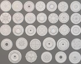 3D model Rosettes Collection -1 - 32 pieces