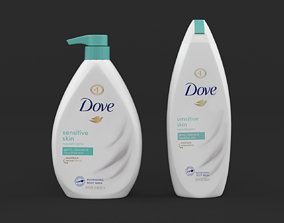 3D model Dove Body Wash