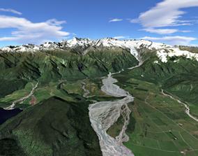 Fox and Franz Josef Glaciers New Zealand 3D
