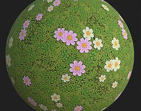 3D model Stylized clover field