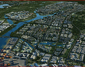 3D Modern City Animated 054