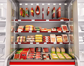 Refrigerated showcase Fortune meat 3D sausage