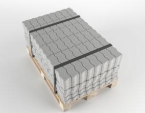 Brick S on pallet 3D model