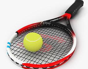 3D asset Tennis Racket and Ball