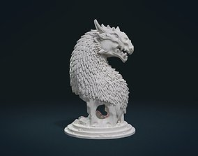 devil 3D print model Dragon Bust