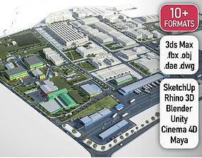 Industrial Factory 3D model
