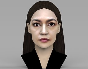 Alexandria Ocasio-Cortez bust ready for full color 3D