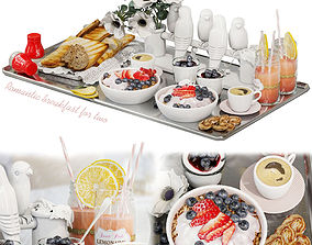 miscellaneous 3D Decorative set Romantic breakfast for two