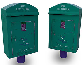 game-ready Hong Kong Letter Box low poly 3D model
