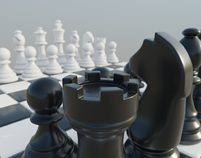 3D model game-ready Classic Chess Set