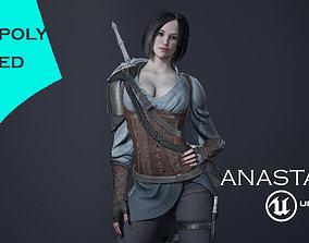 Anastasia 3D asset rigged