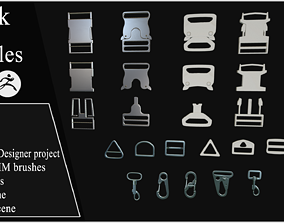 3D Pack of Buckles Marvelous Designer project and Zbrush