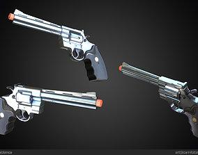 game-ready Magnum 357 Revolver Gun Weapon 3D PBR Game 2