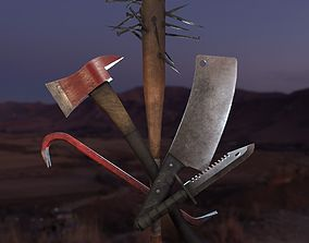 Survival Melee Weapon 5-pack 3D
