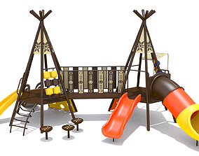 3D model realtime Teepee Playground