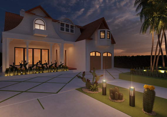 Modern house render in 3ds max