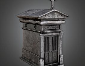Cemetery Mausoleum 1 CEM - PBR Game Ready 3D model