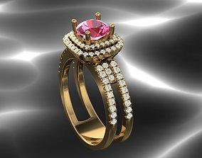 Bridal Indian style rings 3D print model