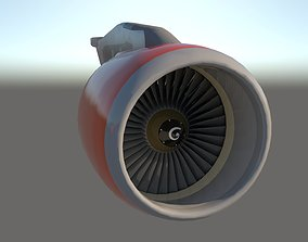 AIRCRAFT ENGINE commercial 3D