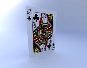 3D Queen of Clubs