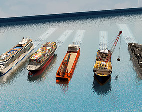 Freighter cruise ship ship sand ship warship 3D model