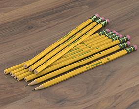 3D model number 02 pencil set