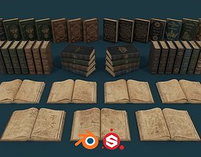 3D model Medieval Books PBR 1