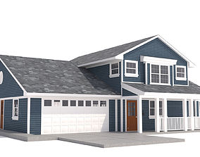 House-003 Low Poly 3D model