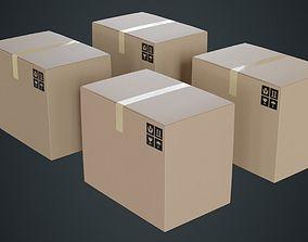 Cardboard Box 1A 3D asset