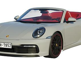 luxury Porsche 911 carrera Cabriolet 2019 3D model