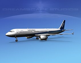 3D model Airbus A321 Air Nippon Airways