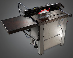 Table Saw TLS - PBR Game Ready 3D model