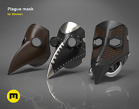 Plague mask 3D printable model