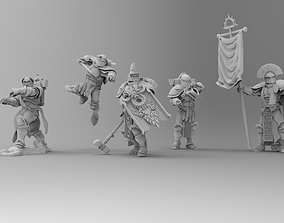 Knights of Roma - Command Squad 3D print model