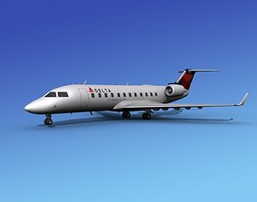 Canadair CRJ100 Delta Connection 2 3D