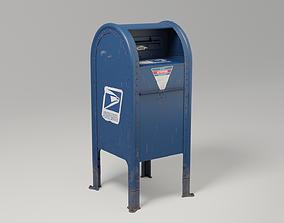 US Postal Service mailbox 3D model