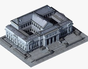 3D asset Classic Civic Building - NY Library